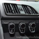 2016 Audi R8 V10 Plus ac controls at 2015 Geneva Motor Show