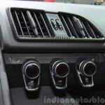 2016 Audi R8 V10 Plus ac controls at 2015 Geneva Motor Show