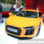 2016 Audi R8 V10 Plus front three quarter view at 2015 Geneva Motor Show