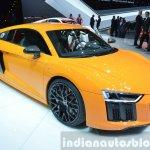 2016 Audi R8 V10 Plus front three quarter(2) view at 2015 Geneva Motor Show