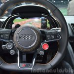 2016 Audi R8 V10 Plus steering wheel at 2015 Geneva Motor Show