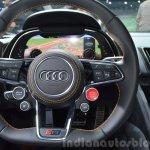 2016 Audi R8 V10 Plus steering wheel at 2015 Geneva Motor Show