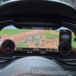 2016 Audi R8 V10 Plus tachometer LED screen at 2015 Geneva Motor Show