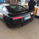 2016 Audi R8 rear spotted at a fuel station