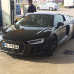 2016 Audi R8 spotted at a fuel station