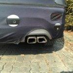 2016 Hyundai Santa Fe exhaust tip (facelift) spied in Korea