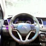 2016 Hyundai Tucson steering wheel at the 2015 Geneva Motor Show