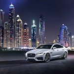 2016 Jaguar XF city skyline official image