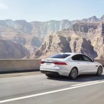 2016 Jaguar XF driving shot rear official image
