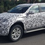 2016 Mitsubishi Pajero Sport side view spyshot from Australia