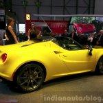 Alfa Romeo 4C Spider rear three quarter at the 2015 Geneva Motor Show