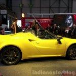 Alfa Romeo 4C Spider side at the 2015 Geneva Motor Show