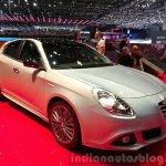 Alfa Romeo Giuletta Collezione front three quarters at the 2015 Geneva Motor Show