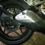 Bajaj Pulsar RS200 ABS exhaust
