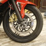 Bajaj Pulsar RS200 Red front wheel at Launch