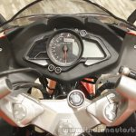 Bajaj Pulsar RS200 Red instrument cluster at Launch