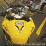 Bajaj Pulsar RS200 Yellow fuel tank at Launch