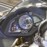 Bajaj Pulsar RS200 Yellow instrument cluster at Launch