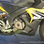 Bajaj Pulsar RS200 Yellow side at Launch