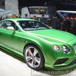 Bentley GT Speed front three quarter view at 2015 Geneva Motor Show