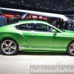 Bentley GT Speed side view at 2015 Geneva Motor Show