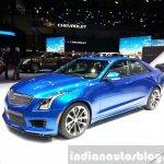 Cadillac ATS-V front three quarter at the 2015 Geneva Motor Show