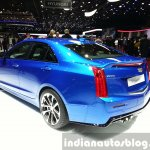 Cadillac ATS-V rear three quarter at the 2015 Geneva Motor Show