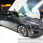 Cadillac CTS-V front three quarter at the 2015 Geneva Motor Show