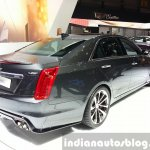 Cadillac CTS-V rear three quarter at the 2015 Geneva Motor Show