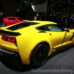 Chevrolet Corvette Z06 rear three quarter at the 2015 Geneva Motor Show