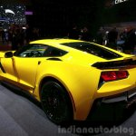 Chevrolet Corvette Z06 rear three quarter left at the 2015 Geneva Motor Show