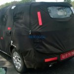 Chevrolet Spin rear quarter spied India