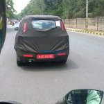 Chevrolet Spin rear spied India