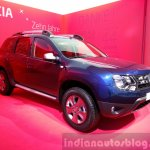 Dacia Duster special edition front three quarters at the 2015 Geneva Motor Show