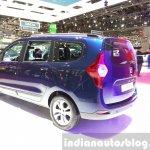 Dacia Lodgy special edition rear three quarters at the 2015 Geneva Motor Show