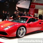 Ferrari 488 GTB at the 2015 Geneva Motor Show front three quarter 2