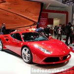 Ferrari 488 GTB front three quarters left at the 2015 Geneva Motor Show