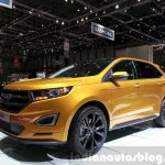 Ford Edge Sport front three quarter right at the 2015 Geneva Motor Show