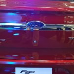 Ford Figo Aspire chrome band on the boot from the Indian premiere