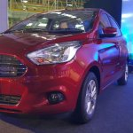 Ford Figo Aspire front three quarter zoom from the Indian premiere