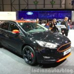 Ford Focus Black Edition front three quarters at the 2015 Geneva Motor Show