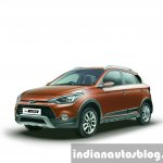 Hyundai i20 Active front quarter press shots