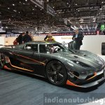 Koenigsegg Agera RS front three quarters view at the 2015 Geneva Motor Show