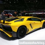 Lamborghini Aventador SV rear three quarters right at the 2015 Geneva Motor Show