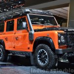 Land Rover Defender Adventure Edition front three quarter at the 2015 Geneva Motor Show