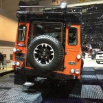Land Rover Defender Adventure Edition rear leaked at the 2015 Geneva Motor Show
