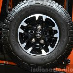 Land Rover Defender Adventure Edition  spare wheel at the 2015 Geneva Motor Show