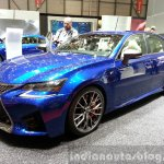 Lexus GS F front three quarters at the 2015 Geneva Motor Show