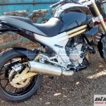 Mahindra Mojo production-ready showroom ready mule side