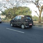Mahindra S101 rear quarter IAB reader spied